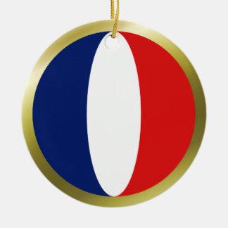 Ornamento de la bandera de Francia Ornamento Para Reyes Magos