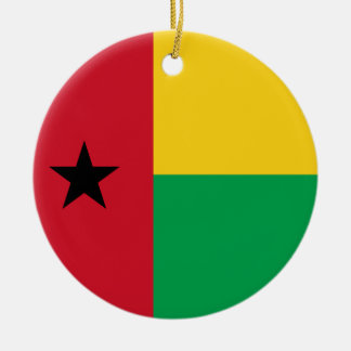 Ornamento de la bandera de Guinea-Bissau Ornamento Para Reyes Magos