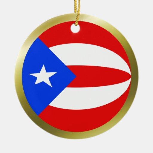 Ornamento de la bandera de puerto rico ornamente de reyes for Decoracion del hogar en puerto rico
