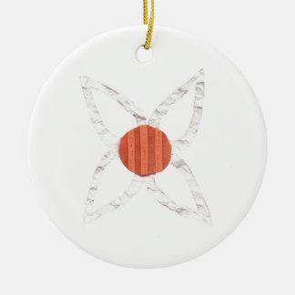 Ornamento de la cadena de margaritas adorno navideño redondo de cerámica
