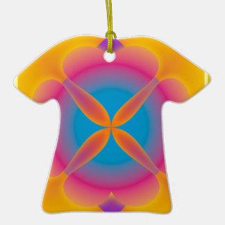 Ornamento de la camisa del resplandor de los coraz ornamentos de reyes
