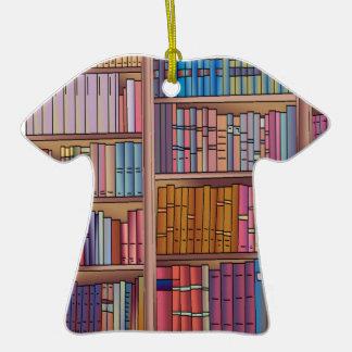 Ornamento de la camiseta del gusano de libro ornamento para reyes magos