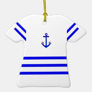 Ornamento de la camiseta del marinero ornamentos de reyes