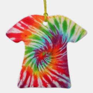 Ornamento de la camiseta del teñido anudado ornamento para arbol de navidad