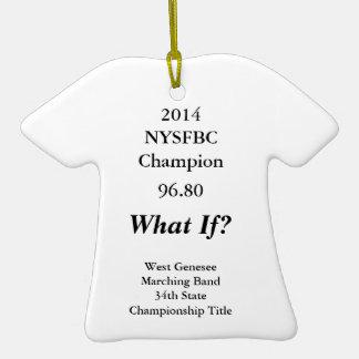 Ornamento de la camiseta para la banda 2014 de adornos de navidad
