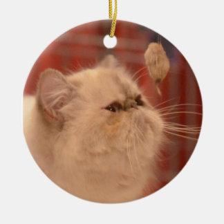 Ornamento de la cara del gato persa
