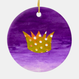 Ornamento de la corona del navidad adorno navideño redondo de cerámica