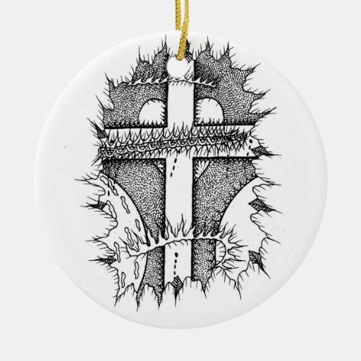 Ornamento de la cruz y de las espinas ornato