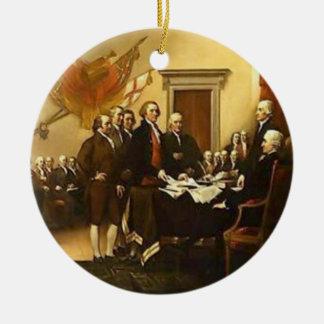 Ornamento de la Declaración de Independencia Adorno Redondo De Cerámica