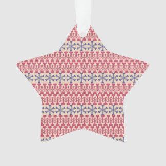 Ornamento de la estrella de los corazones Nevado