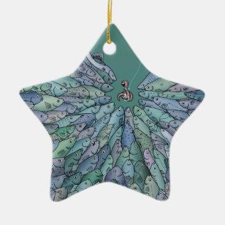 Ornamento de la estrella del frenesí de la adorno de cerámica en forma de estrella