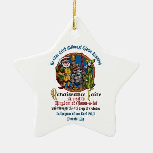 Ornamento de la estrella del MCA 40.o Ornamento Para Arbol De Navidad
