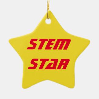Ornamento de la estrella del TRONCO Adorno Navideño De Cerámica En Forma De Estrella