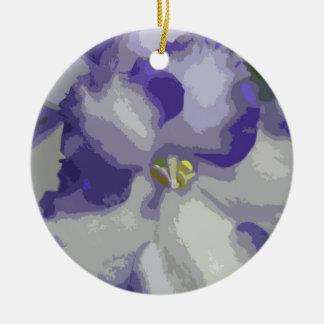 Ornamento de la flor de la violeta africana ornamento de reyes magos