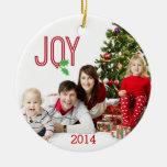 Ornamento de la foto de la alegría dos de las ornamento de navidad