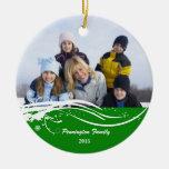 Ornamento de la foto del día de fiesta del navidad ornamentos de reyes