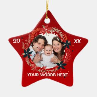 Ornamento de la foto del navidad del bebé