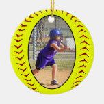 Ornamento de la foto del softball de Fastpitch Adorno Para Reyes