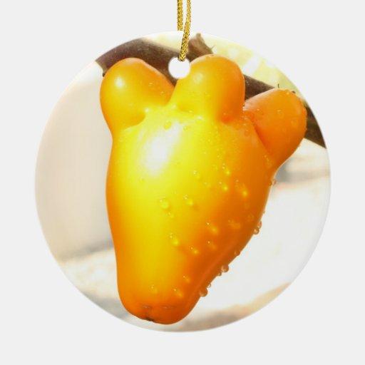 Ornamento de la fruta de la cara del Fox Adorno Para Reyes