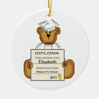 Ornamento de la graduación del preescolar persona ornaments para arbol de navidad