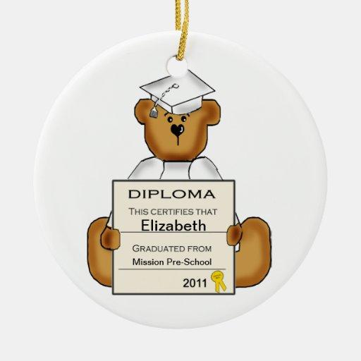 Ornamento de la graduación del preescolar (persona ornaments para arbol de navidad