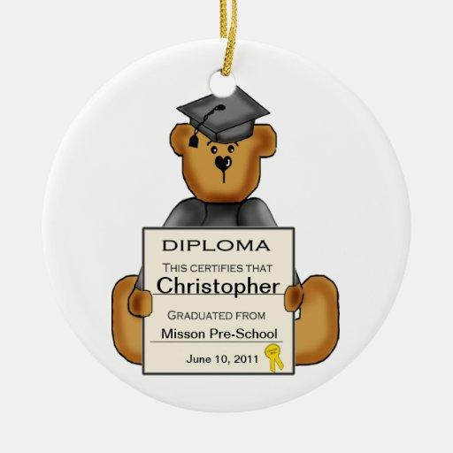 Ornamento de la graduación del preescolar (persona adornos de navidad