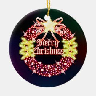 Ornamento de la guirnalda de las Felices Navidad Adorno Para Reyes