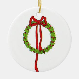Ornamento de la guirnalda del navidad ornamentos de reyes