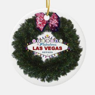 Ornamento de la guirnalda del navidad de Las Vegas Adorno De Navidad