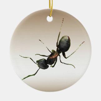 Ornamento de la hormiga adorno redondo de cerámica