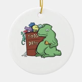 Ornamento de la impulsión de la comida del dinosau ornamento de reyes magos