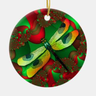Ornamento de la libélula del día de fiesta