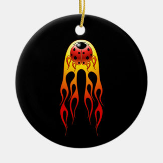 Ornamento de la llama de la mariquita ornamentos de reyes magos