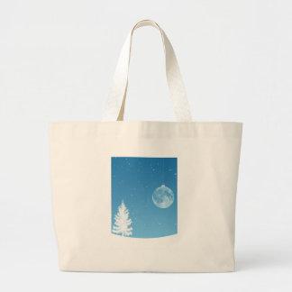 Ornamento de la luna bolsa tela grande