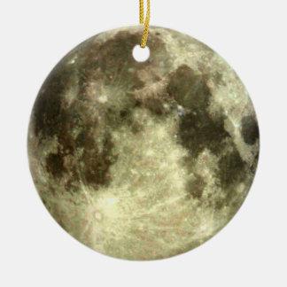 Ornamento de la Luna Llena Adorno Redondo De Cerámica