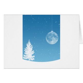 Ornamento de la luna tarjeta de felicitación