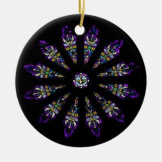 Ornamento de la mandala del vitral adornos de navidad