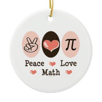 Ornamento de la matemáticas del amor de la paz ornamente de reyes
