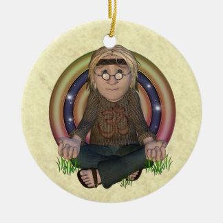 Ornamento de la meditación del hippy adorno