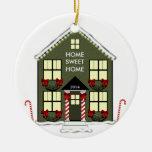 Ornamento de la nueva casa adorno redondo de cerámica