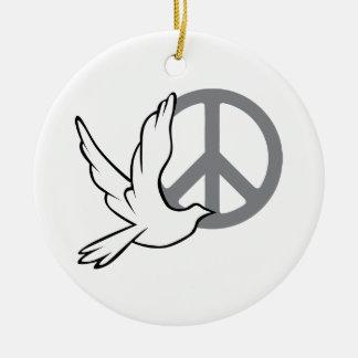Ornamento de la paloma de la paz ornamentos para reyes magos