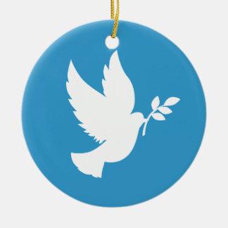 Ornamento de la paloma de la paz ornamento para arbol de navidad