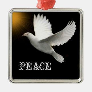 Ornamento de la paloma de la paz adorno de navidad