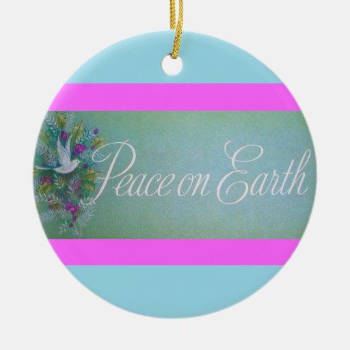 Ornamento de la paz adorno de navidad