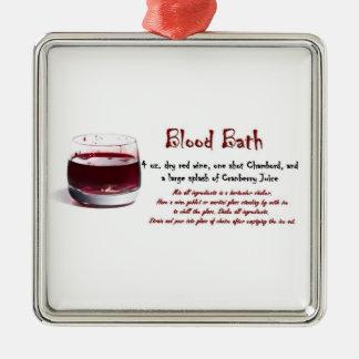 ornamento de la receta de la bebida del baño de sa ornamente de reyes