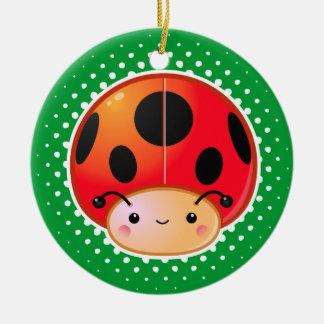 Ornamento de la seta de la mariquita de Kawaii Adornos De Navidad