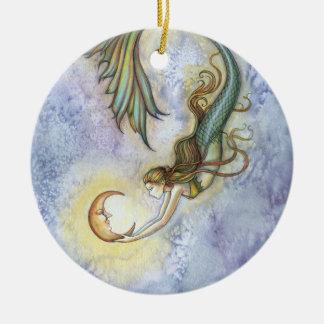 Ornamento de la sirena y de la luna