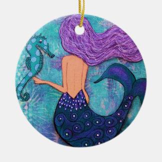 Ornamento de la sirena y del Seahorse