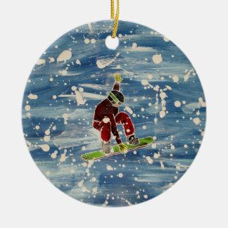 Ornamento de la snowboard