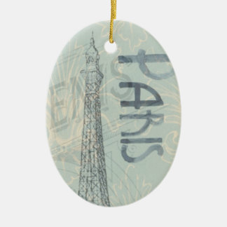 Ornamento de la torre Eiffel del vintage de Ovel